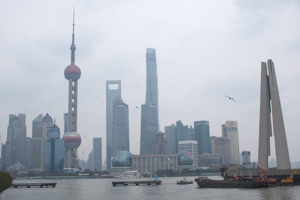 上海タワーと森ビル