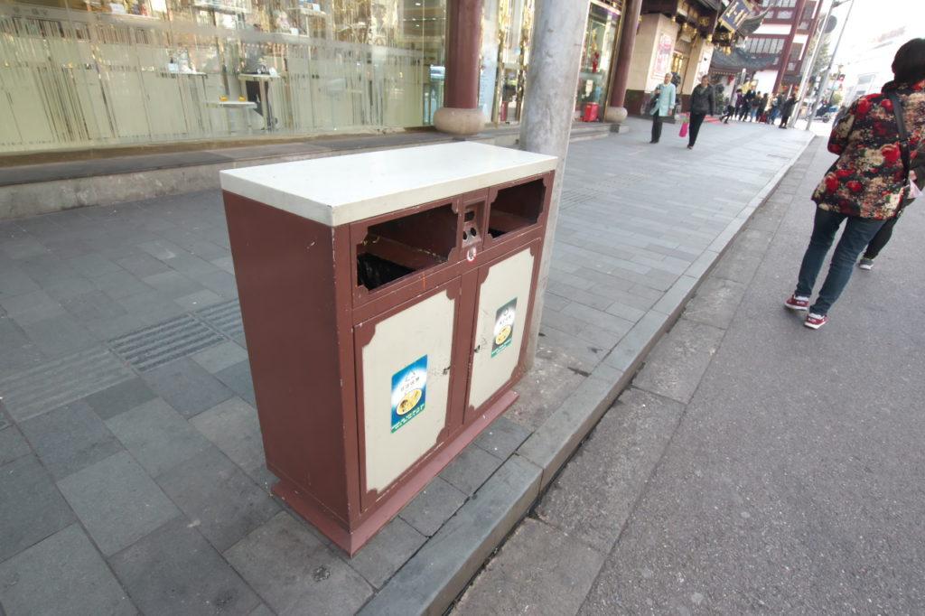 上海ゴミ箱