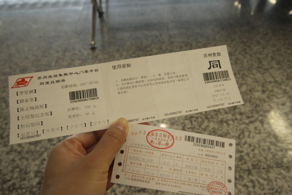 バスチケットと観光地パス