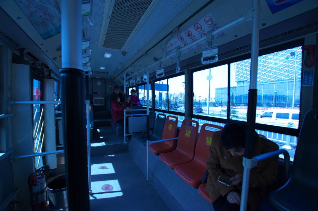 蘇州市バス内