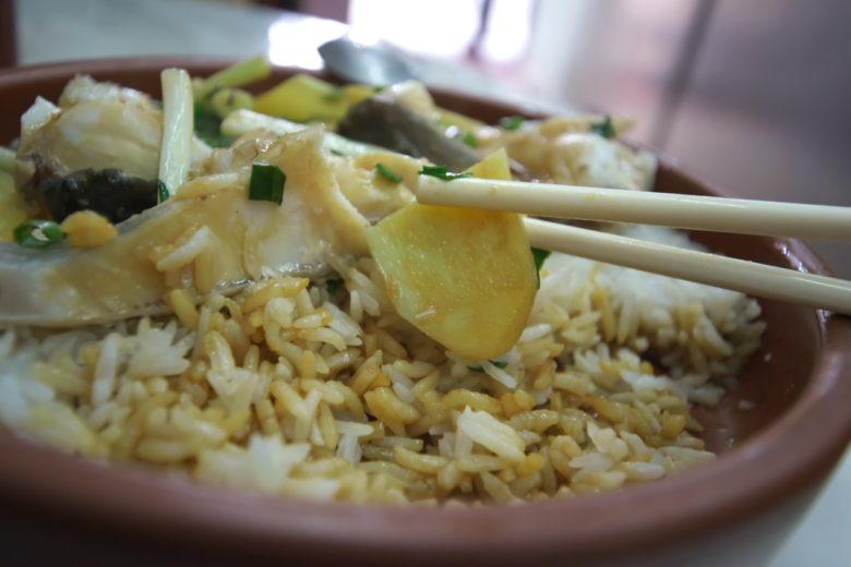 姜葱蒸鯇魚砵仔飯