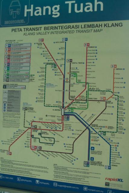 クアラルンプール路線図