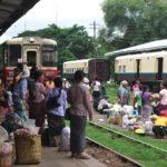 ネピドーからバガンへ鉄道で移動(2017年7月19日)