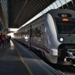 セビーリャからカディスに鉄道移動(2018年1月21日)