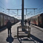 モロッコのタンジェからフェスに列車移動(2018年2月3日)