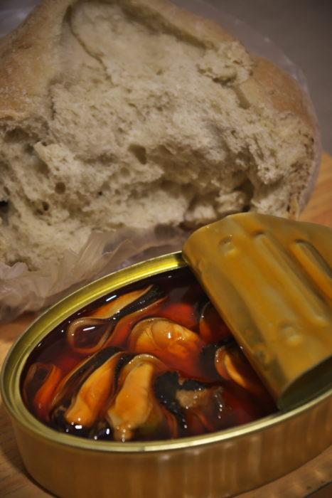 ムール貝の缶詰