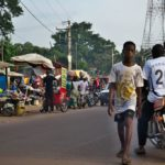 ギニアのベイラから南部の都市ヌゼレコーレへ移動(2018年4月17日)