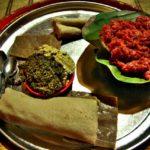 """【エチオピア】アディスアベバでエチオピア料理""""キトフォ""""を食す!(2018年12月15日)"""